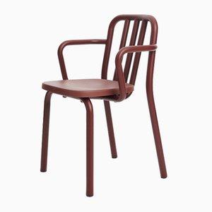 Kastanienbrauner Tube Sessel von Eugeni Quitllet für Mobles 114