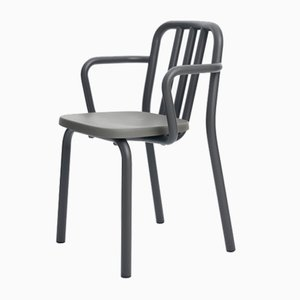 Grey Anthracite Tube Armchair by Eugeni Quitllet for Mobles 114