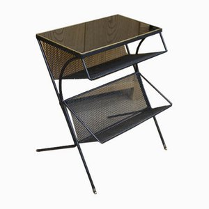 Serving Console in Wire Mesh and Opaline, 1970s