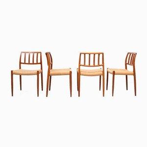 Dining Chairs by Niels O. Møller for J.L. Møller Møbelfabrik, Set of 4