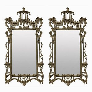 Chippendale Revival Mirrors, 1930s, Set of 2