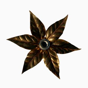 Florentine Floral Wall Sconce by Willy Daro for Massive Lighting