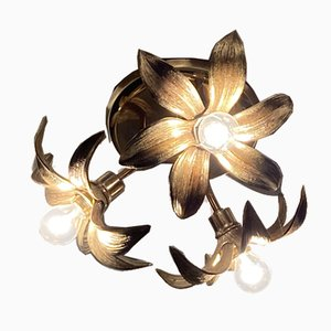 Florentine Floral Triple Lamp Wall or Ceiling Lamp by Willy Daro for Massive Lighting
