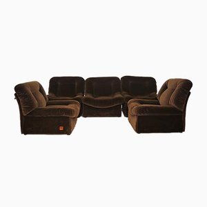 Panarea Modular Armchairs in Chenille from Lev & Lev, 1970s, Set of 5