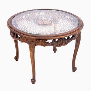 Antiker Tisch mit runder Tischplatte, Frankreich, 1900er
