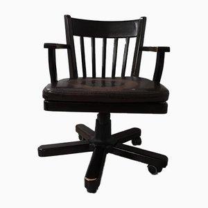 Chaise de Bureau Mid-Century en Bois