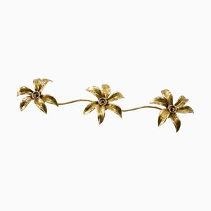 Triple Floral Wall or Ceiling Lamp by Willy Daro for Massive