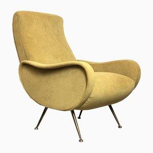 Italian Yellow Lady Lounge Chair, 1950s