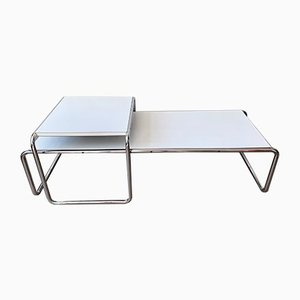 B9 & B10 Laccio Side Tables by Marcel Breuer for Knoll, Set of 2