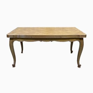 Louis XV Table in Blond Oak with Parquetry Top