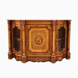 Englisches Sideboard aus Holz mit Intarsien