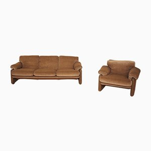 Sofa and Armchair from B&B Italia / C&B Italia, 1970s, Set of 2
