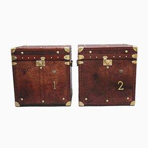 Geflochtene Armee Koffer aus frühem 20. Jh., 2er Set