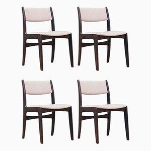 Eichenholz Stühle von Skovby, Dänemark, 1970er, 4er Set