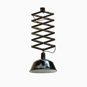 Vintage Industrial Black Enamel Scissor Pendant Light