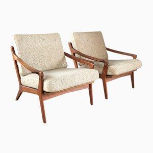 Vintage Danish Teak Easy Chairs by Arne Wahl Iversen for Komfort, Set of 2