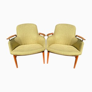 First Edition NV53 Chairs by Finn Juhl for Niels Vodder, Set of 2