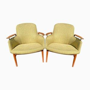 First Edition NV53 Stühle von Finn Juhl für Niels Vodder, 2er Set