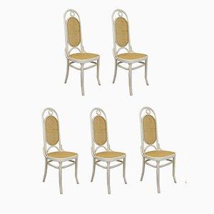 Chaises de Salon à Dossier Haut, Set de 5