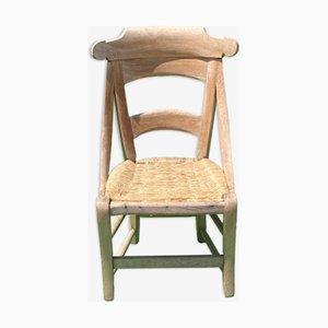 Antique French Wabi Sabi Wicker Chair