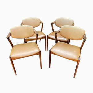 Rosewood Model 42 Dining Chairs by Kai Kristiansen, Set of 4