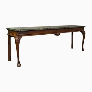 Large Antique French Console Table in Pine & Marble, 1900s