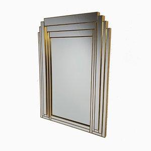 Hollywood Regency Style Brass Mirror from Deknudt Belgium, 1970s