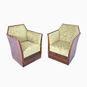 Art Deco Armchairs, France, 1930s, Set of 2