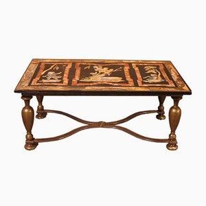 Mesa de centro con tablero de mármol Scagliola, Florencia, siglo XIX