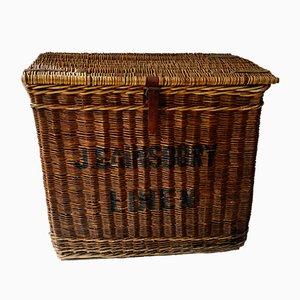 Viktorianischer Korb aus Korbgeflecht von J. Sainsbury's