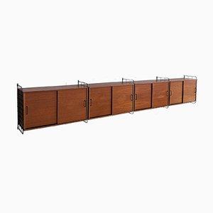 Mueble de pared vintage de teca