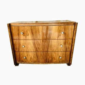 Vintage Art Deco Chest of Drawers, 1930s or 1940s