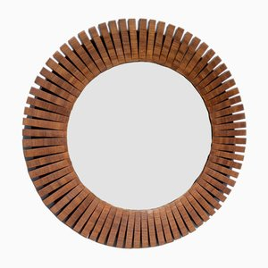Mid-Century Wall Mirror in Segmented Frame