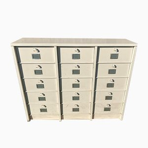 Industrial Metal Locker with 15 Flaps from Strafor, 1950s