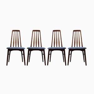 Mid-Century Eva Dining Chairs by Niels Koefoed for Koefoed Hornslet, 1960s, Set of 4