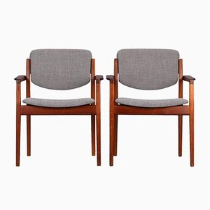 Model 196 Armchairs by Finn Juhl for France and Son, 1960s, Set of 2