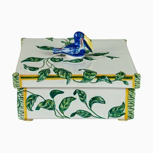 Square Lidded Toucans Box from Hermes Paris