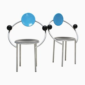 First Chairs by Michele de Lucchi for Memphis Milano, Set of 2