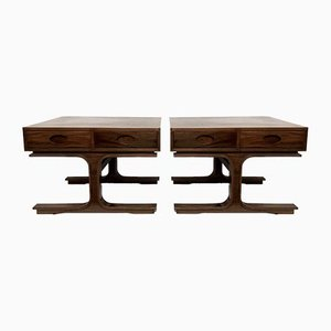 Wooden Night Tables by Gianfranco Frattini for Bernini, 1950s, Set of 2