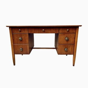 Mid-Century Desk with Drawers from Henredon