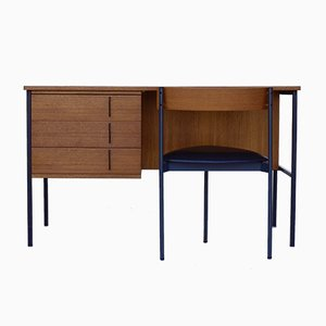Teak Writing Desk and Chair by Günter Renkel for Rego, 1960s, Set of 2