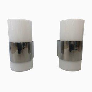 Methacrylat Wandlampen von Metalarte, 1980er, 2er Set