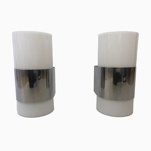 Methacrylate Wall Lights from Metalarte, 1980s, Set of 2