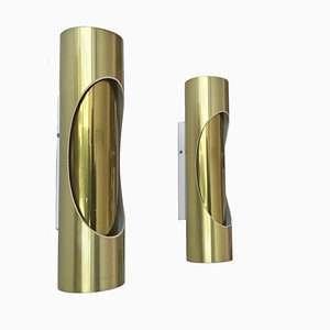 Tubular Sconces from S. L. Marca, 1970s, Set of 2