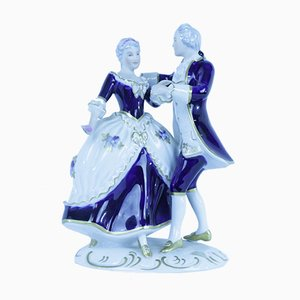 Rococo Couple Figurine in Porcelain from Royal Dux