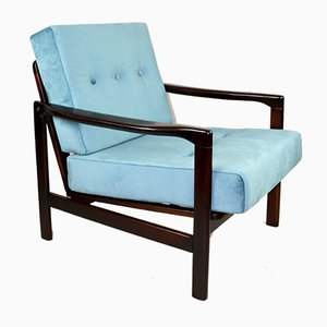 Vintage Turquoise Armchair by Z. Baczyk, 1970s