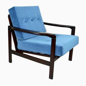 Vintage Blue Armchair by Z. Baczyk, 1970s