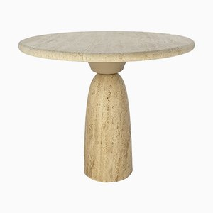 Travertine Finale Side Table by Peter Draenert, 1970s