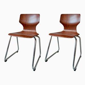 Skandinavische Stühle aus Pagholz von Pagholz Flötotto, 2er Set