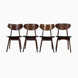 Teak Dining Chairs by Louis Van Teeffelen for Awa, 1960s